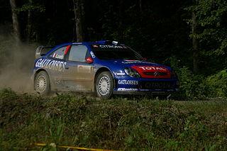 Kronos Racing Rallying team competing in international rallies