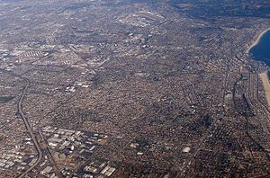 The city of Torrance, California as viewed fro...