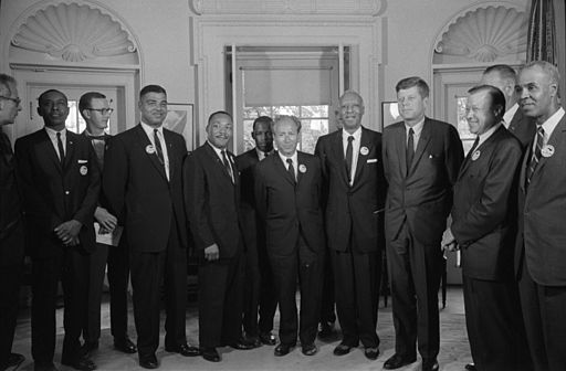 Civil rights leaders meet with President John F. Kennedy2