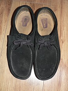 91f34a3775005d A pair of Clarks Wallabies. This particular pair was used as school shoes