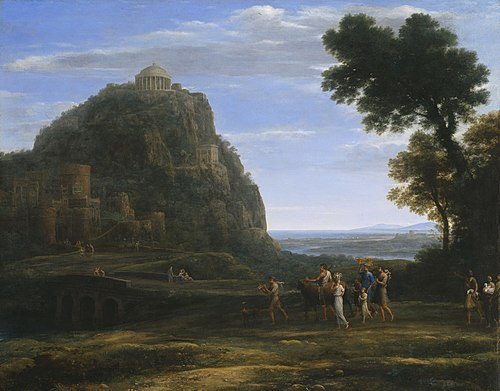 Claude Lorrain - View of Delphi with a Procession - 1941.1020 - Art Institute of Chicago.jpg