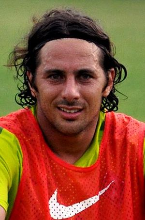 Culture of Peru - Claudio Pizarro, current captain of the Peruvian national football team.