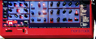 "American Life - A Nord Lead synthesizer was initially used for recording ""Hollywood"" but Ahmadzaï faced problems with it"