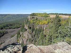 Grand Mesa - Image: Cliff edge on Grand Mesa Colorado