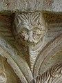 Codalet (66) Abbaye Saint-Michel de Cuxa Cloître Chapiteau Détail 04.JPG