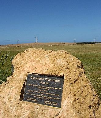 Codrington, Victoria - Image: Codrington Wind Farm
