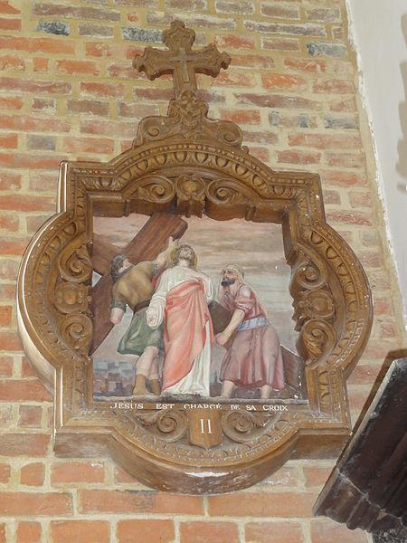 Coingt (Aisne) Église, chemin de croix, station 02