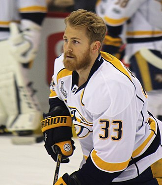 Colin Wilson (ice hockey) - Wilson during the 2017 Stanley Cup Finals with the Nashville Predators