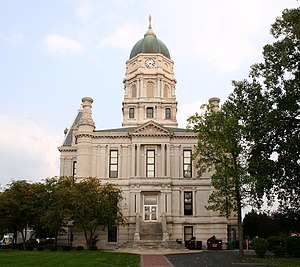 Columbia City, Indiana - Whitley County Courthouse