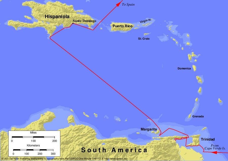 Columbus third voyage