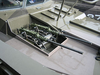 CB90-class fast assault craft - Two .50 cal heavy machine guns seen here in front of the helmsman's position