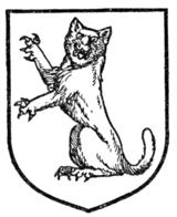Fig. 335.—Cat-a-mountain sejant guardant erect.