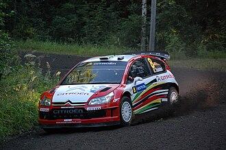 Citroën Junior Team - Conrad Rautenbach driving Citroën C4 WRC at the 2009 Rally Finland.