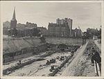 Construction of train tunnel, Hyde Park, 1923 (8282686781).jpg