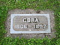 Cora, Lone Fir Cemetery, May 2012.JPG