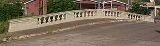 National Register of Historic Places listings in Gila County, Arizona - Image: Cordova Ave Bloody Tanks bridge US railing 1