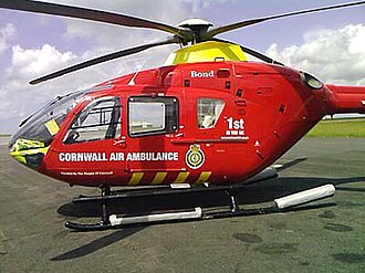 Cornwall Air Ambulance - The former Cornwall Air Ambulance - G-KRNW - a Eurocopter EC 135