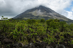 Arenal Volcano - Arenal in 2014, viewed from the old 1968 lava flow.