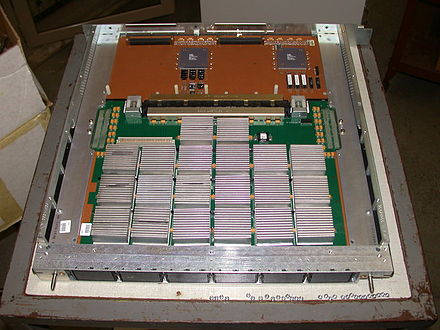 Cray J90 processor module with four scalar/vector processors Cray J90 CPU module.jpg