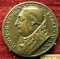 Cristoforo di geremia, medaglia di paolo II, recto (verso con ghainda di quercia).JPG