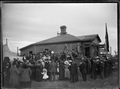 Crowd at the laying of the Foundation Stone for the Petone Baptist Church, 2nd May 1903. ATLIB 273329.png