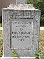 Crucifix base (1929), R.C. churchyard 2017 Hajdúnánás.jpg