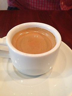 Cuban espresso Drink made with espresso coffee and brown sugar