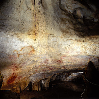 Cave and archaeological site with prehistoric paintings in Spain