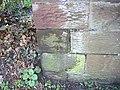 Cut Mark, St Lawrence's Church Perimeter Wall, Frodsham - geograph.org.uk - 2315876.jpg