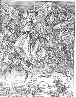 Saint Michael Fighting the Dragon - Saint Michael Fighting the Dragon by Albrecht Durer