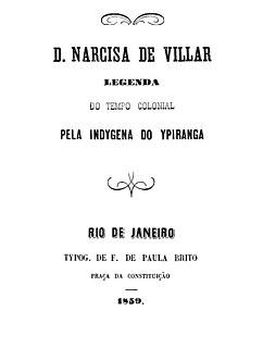 <i>D. Narcisa de Villar</i> 1859 novel