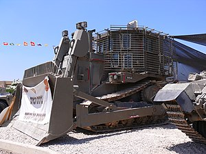 Israel Defense Forces armored Caterpillar D9R ...