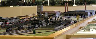Ausbesserungswerk - Model of a steam locomotive Ausbesserungswerk planned before the 2nd World War, displayed in the Nuremberg Transport Museum