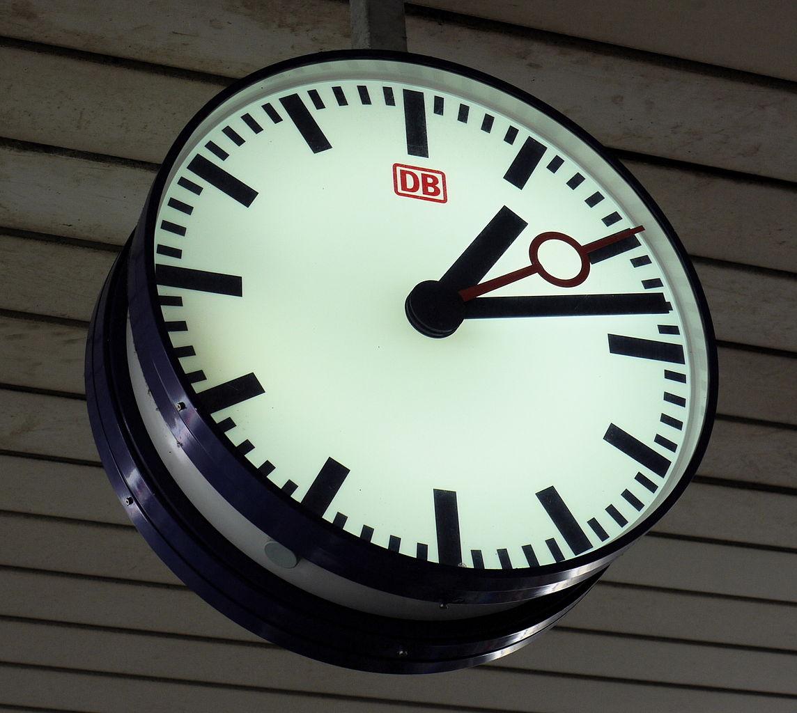File Db Station Clock  Basel Badischer Bahnhof Jpg