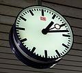 DB station clock, Basel Badischer Bahnhof.jpg