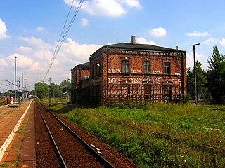 railway station in Dąbrowa Górnicza, Poland
