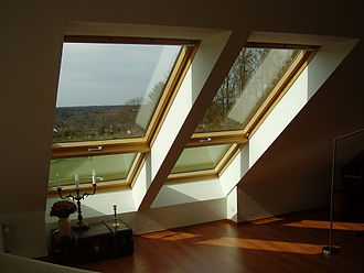 Roof window - Velux roof window in a converted attic space in Germany