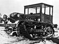 Damaged tractor in the Antarctic c1947.jpg