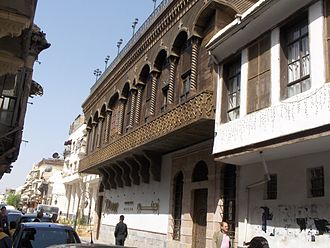 Typical historic Damascene street Damasco via rectaHPIM3222.JPG