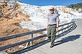Dan Wenk on the Mammoth Hot Springs boardwalks (2) (43024457105).jpg