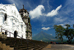 Daraga Church with Mayon Volcano in the background