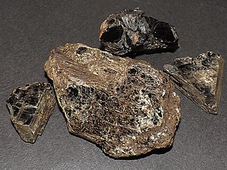 Mica - Dark mica from Eastern Ontario