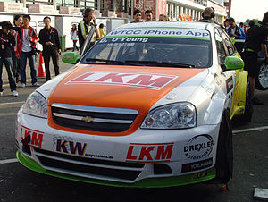 Craft-Bamboo Racing - Title showdown. O'Young on the grid in Macau 2010.