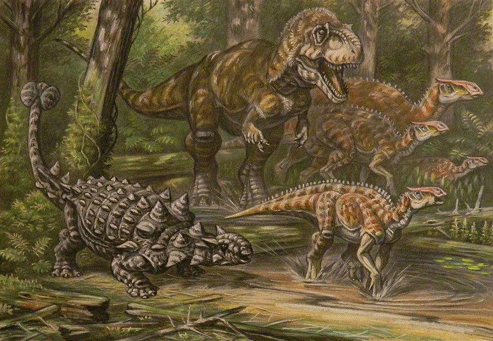 Daspletosaurus hunting