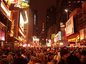 New York Times Square New year celebrations in...