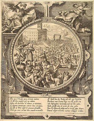 Johannes Wierix - Retreat of the Germans