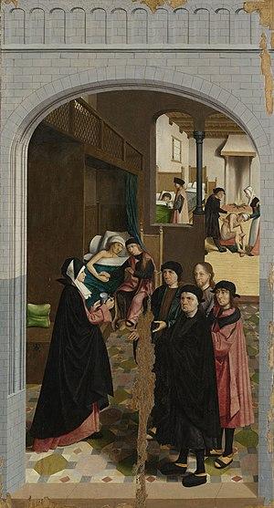 The Holy Kinship (Geertgen tot Sint Jans) - Image: De zeven werken van barmhartigheid Rijksmuseum SK A 2815 6