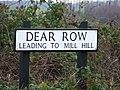 Dear Row road sign - geograph.org.uk - 1089598.jpg