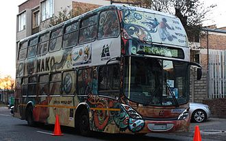 Transportation in Johannesburg - Decorated bus in Johannesburg 2010