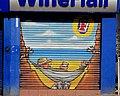 Decorated shutter door, Belfast - geograph.org.uk - 1913502.jpg